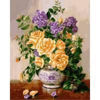 Фото Картины на холсте по номерам, Букеты, Цветы, Натюрморты Q2147