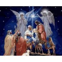 Фото Картины на холсте по номерам, Зима! Новый Год! Рождество! VP 996