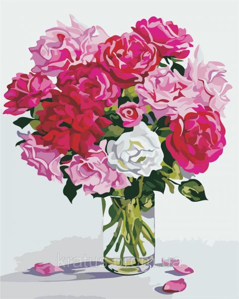 "AS 0336 ""Оттенки розового"" Картина по номерам на холсте Art Story 40x50см"