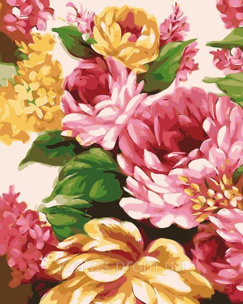 """AS 0348 """"Живописные цветы"""" Картина по номерам на холсте Art Story 40x50см"""