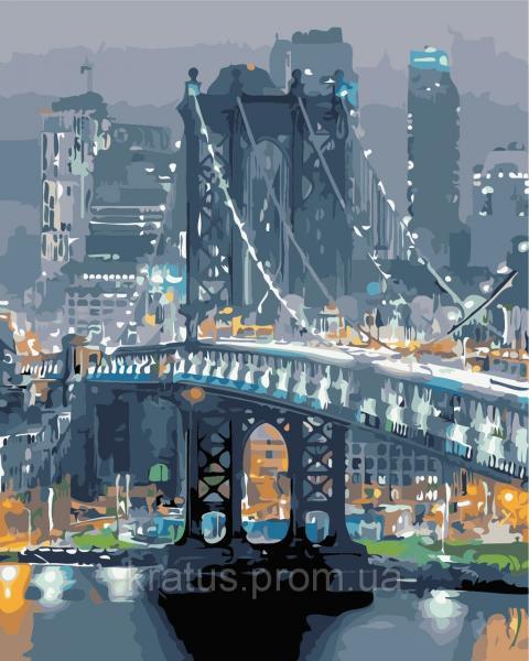 "AS 0361 ""Бруклинский мост"" Картина по номерам на холсте Art Story 40x50см"