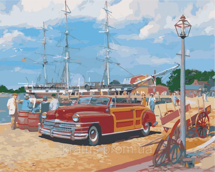 """AS 0365 """"Портовый городок"""" Картина по номерам на холсте Art Story 40x50см"""