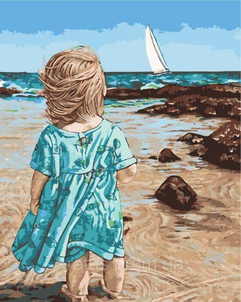 """AS 0451 """"Маленькая Асоль"""" Картина по номерам на холсте Art Story 40x50см"""
