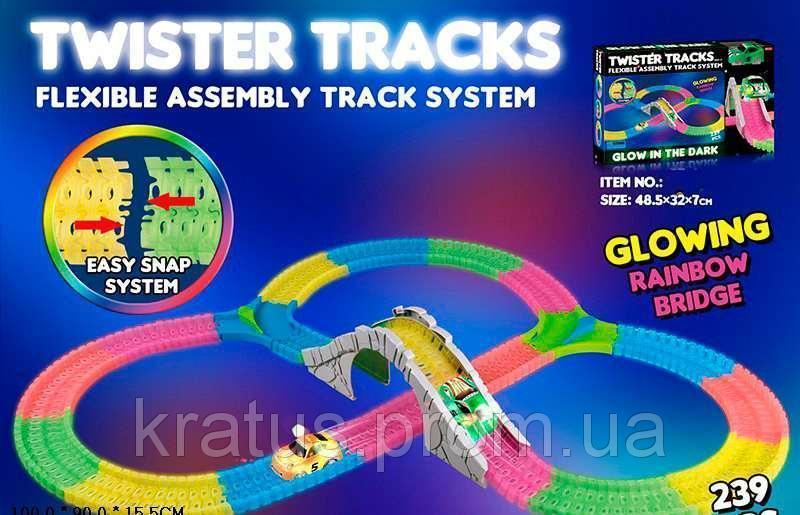 7789 Гоночный Magic Tracks, муз, свет, 239 дет