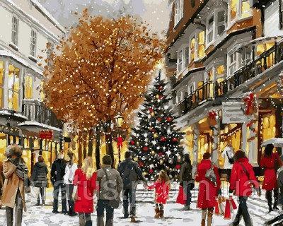 Фото Картины на холсте по номерам, Зима! Новый Год! Рождество! VP782