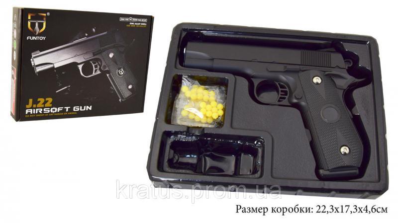 Пистолет металлический  J 22 ( реплика кольта 1911)