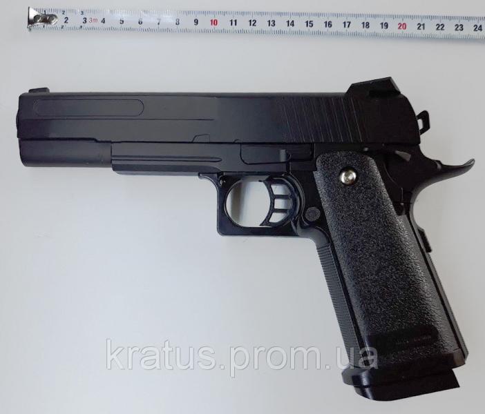 Пистолет металлический  J 27 (масштабная копия 1:1  реплика кольта 1911)