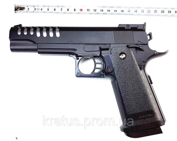 Пистолет металлический  J 26 (масштабная копия 1:1  реплика кольта 1911)