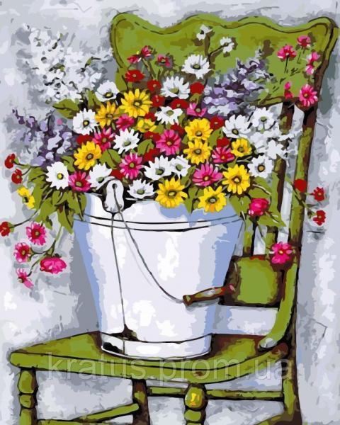 """AS 0122 """"Полевые цветы"""" Картина по номерам на холсте Art Story 40x50см"""