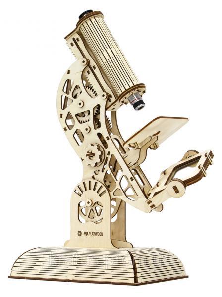 Микроскоп (механический деревянный конструктор)