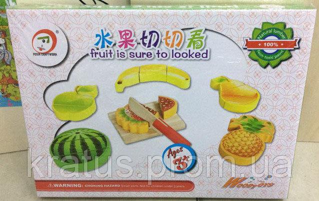 B 24509 Деревянные фрукты на липучках