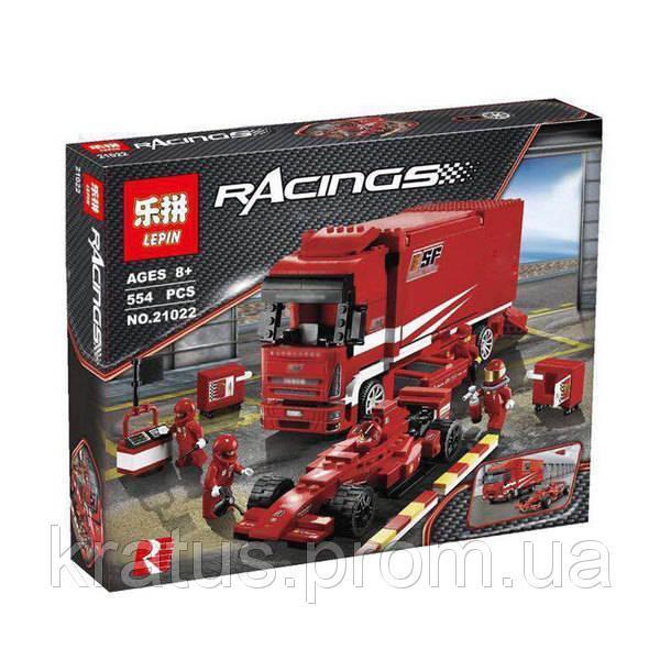 "21022 Конструктор Lepin (аналог Lego Racers 8185) ""Грузовик Ferrari "", 554 дет"