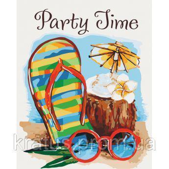 "KH 2821 ""Party time"" Роспись по номерам на холсте 40х50см"