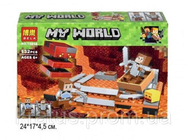 10958 Конструктор Bela (Аналог Lego Minecraft) 132 дет.