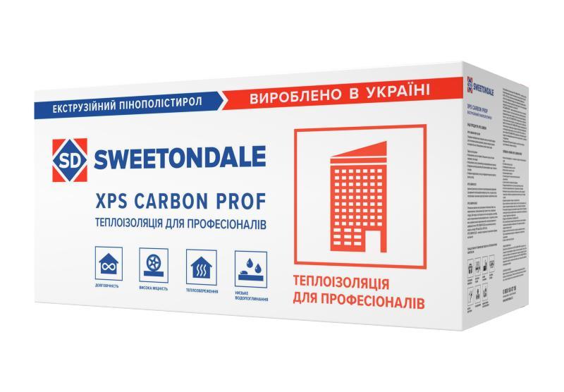 Экструдированный пенополистирол XPS CARBON PROF RF 1180*580*50мм