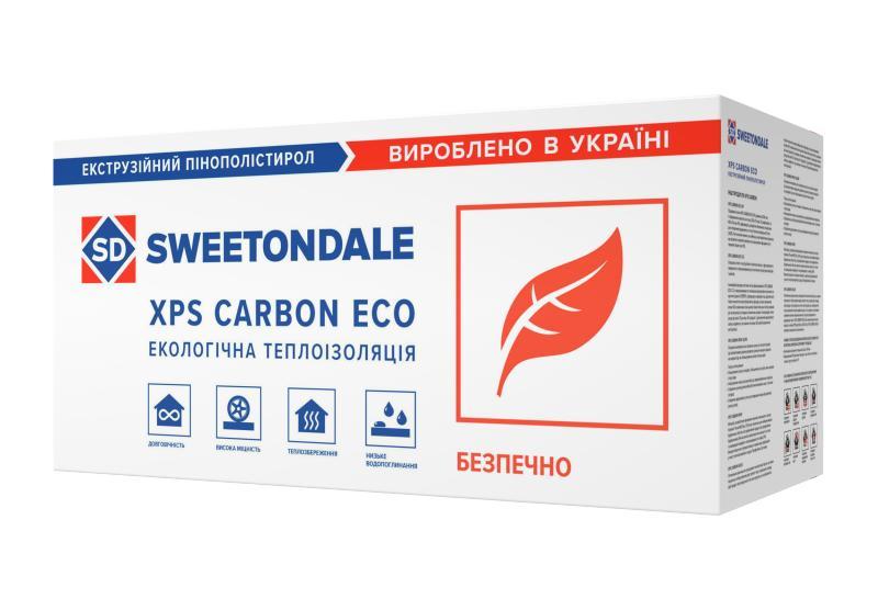 Экструдированный пенополистирол XPS CARBON ECO C\2 фрезерованная с канавками 1180*580*50 мм