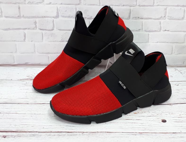 Кроссовки летние Nike красные. Украина