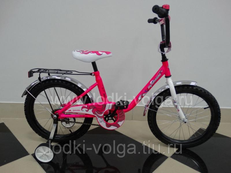 """Велосипед МУЛЬТЯШКА 1803 18""""; 1s (розовый)"""