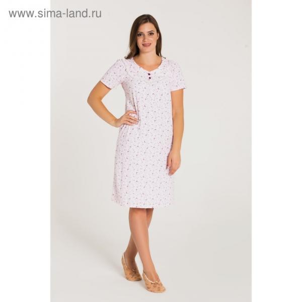 Сорочка женская 713 цвет розовый, бамбук, р-р 52