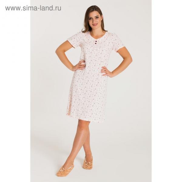Сорочка женская 713 цвет бежевый, бамбук, р-р 54