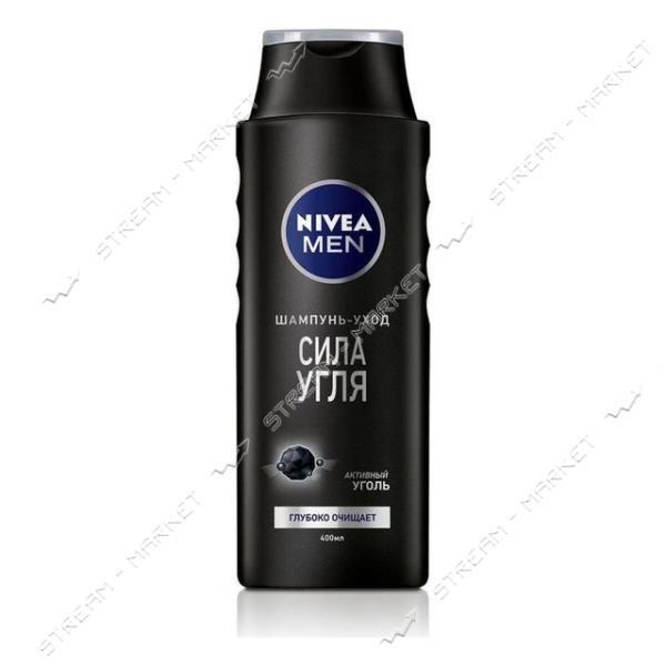 Шампунь-уход для мужчин Nivea Сила угля 400мл