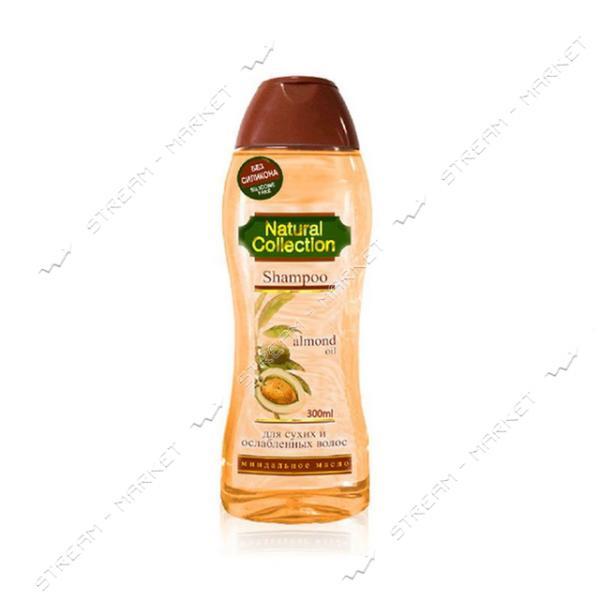 Шампунь для сухих и ослабленных волос PIRANA Natural Collection Миндальное масло 300 мл