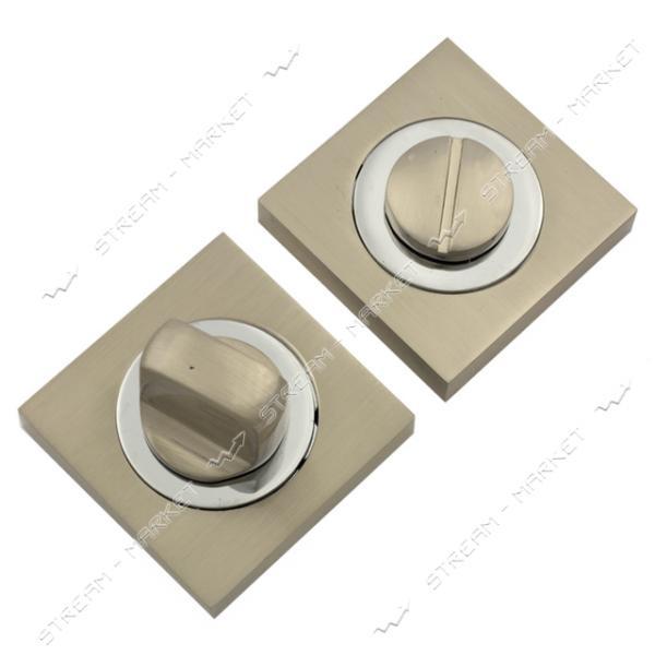 Накладка поворотник BARRERA QW-SN/CR (сатин/хром) квадрат