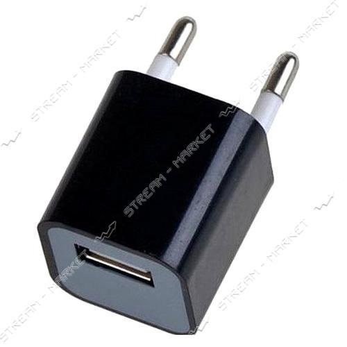 Сетевое зарядное устройство'КУБИК' 5V/0.5А 1USB, цвета в ассортименте, без упаковки