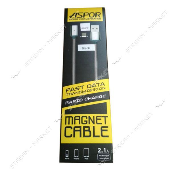 Кабель магнитный Aspor AМ102 Micro USB 1м цвета в ассортименте