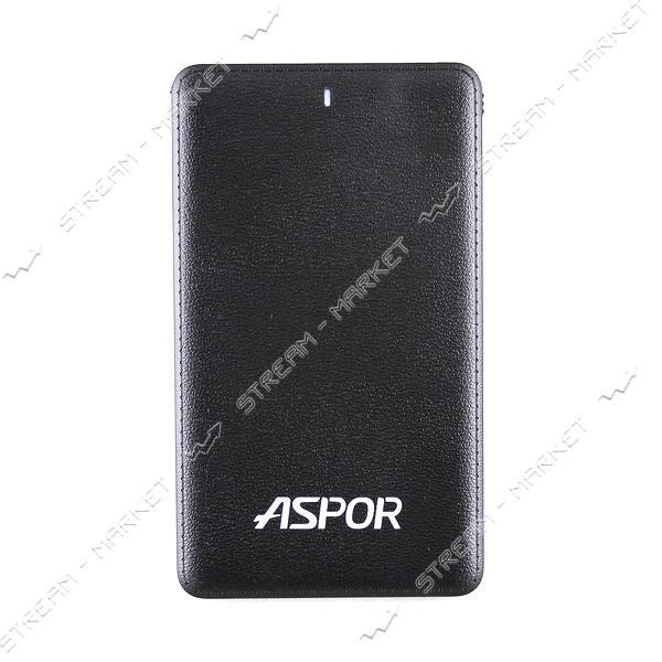 Aspor портативное зарядное устройство A371, 1USB, 4000mAh, цвет черный