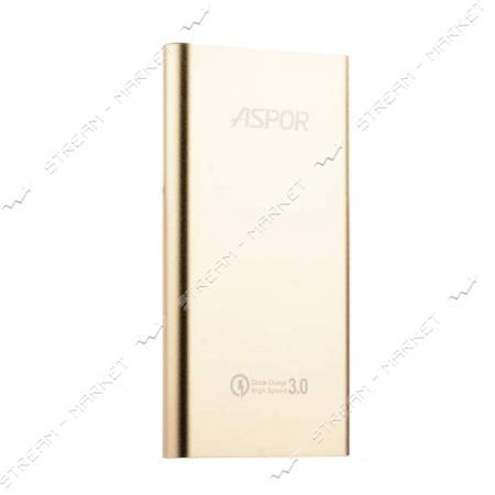 Aspor портативное зарядное устройство Q389, 1USB, 10000mAh, цвета в ассортименте