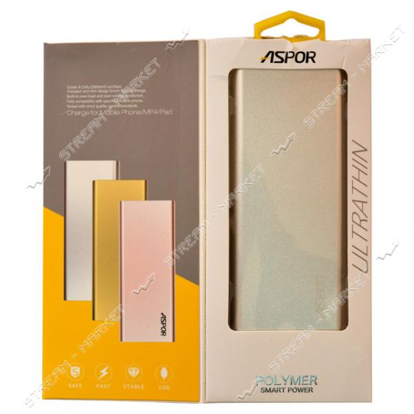 Aspor портативное зарядное устройство Ultrathin A383, 1USB, 10000mAh