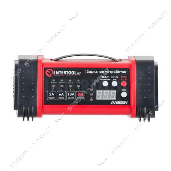 Зарядное INTERTOOL AT-3019 12-24В, 2/6/10А, 2/6А, 230В, дисплей