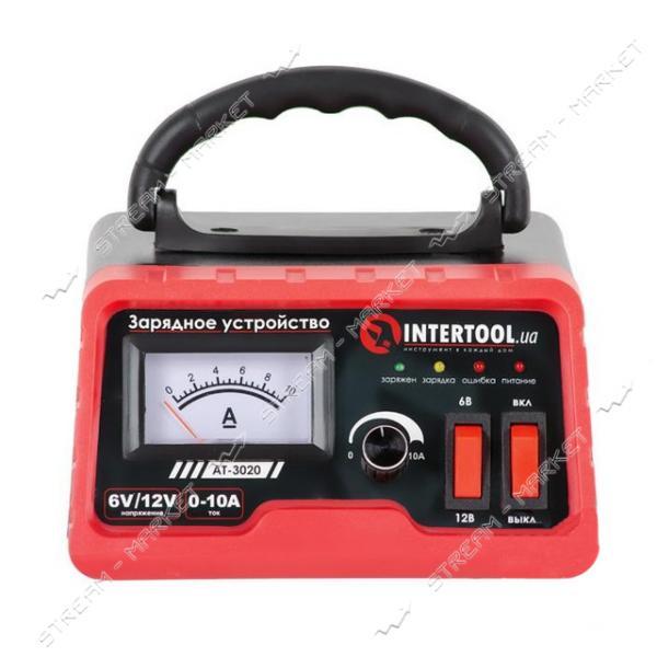 Зарядное INTERTOOL AT-3020 6/12В, регулировка силы тока 0-10А, 230В