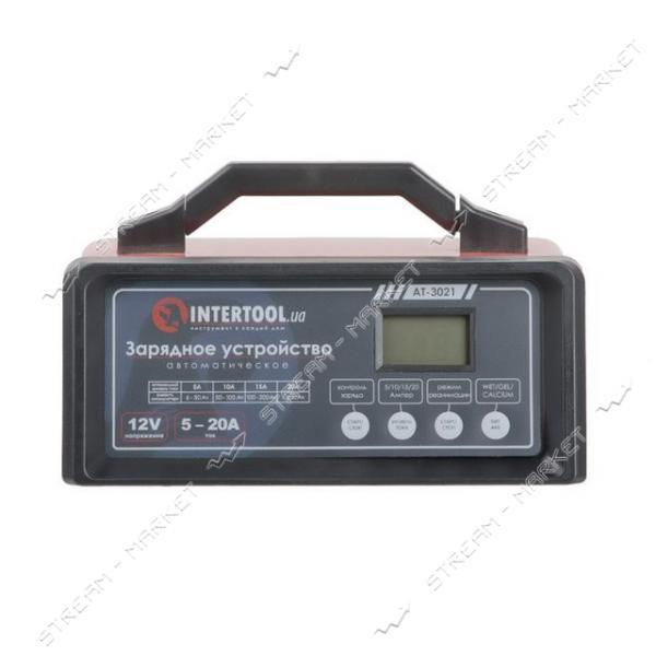 Зарядное INTERTOOL AT-3021 12В, 5/10/15/20А, 230В режим реанимации, десульфатации аккумулятора