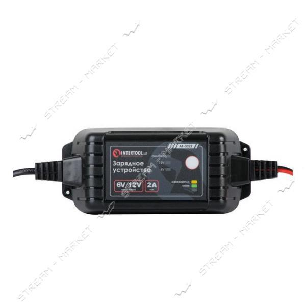 Зарядное INTERTOOL AT-3022 6/12В, 2А, 230В макс.емкость заряжаемого аккумулятора 1, 2-60 а/ч