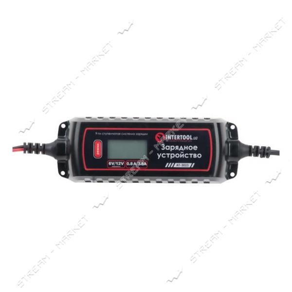 Зарядное устройство INTERTOOL AT-3023 6/12В, 0.8/3.8А, 230В, зимний реж.зарядки, дисплей