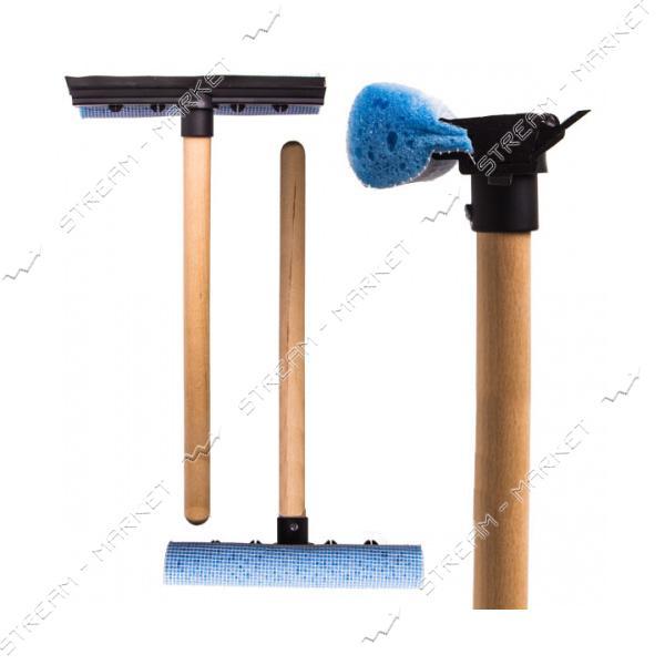 Мойка для стекол Tom Par NT деревянная ручка 37см