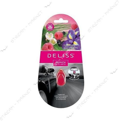 DELISS Освежитель подвесной для автомобиля Romanse 4мл