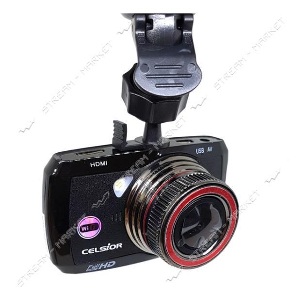 Автомобильный цифровой видеорегистратор CELSIOR DVR CS-219 HD WI-FI черный