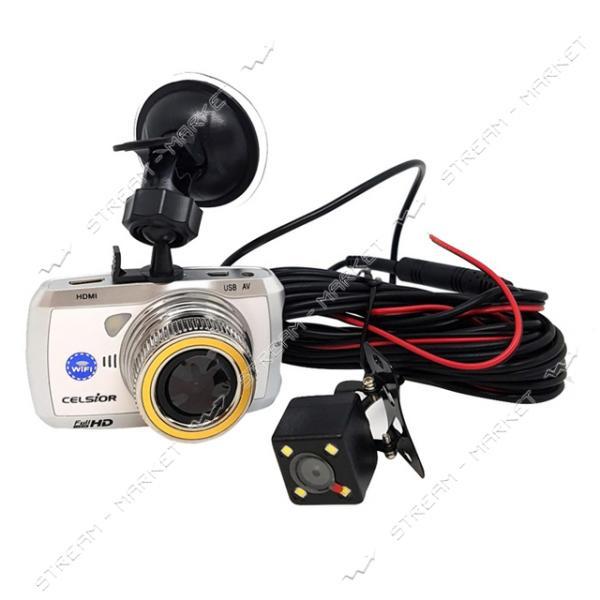 Автомобильный цифровой видеорегистратор CELSIOR DVR CS-219-D HD WI-FI белый