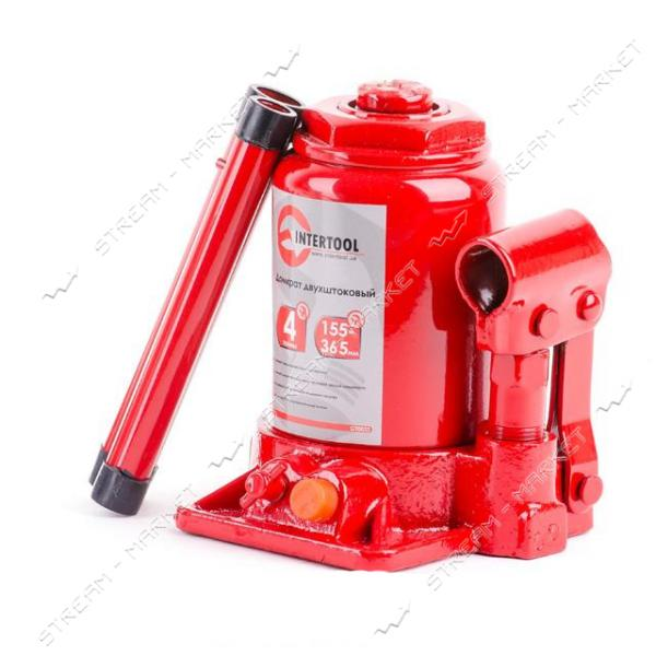 Домкрат 'столбик' INTERTOOL GT0032 2-х штоковый 4т
