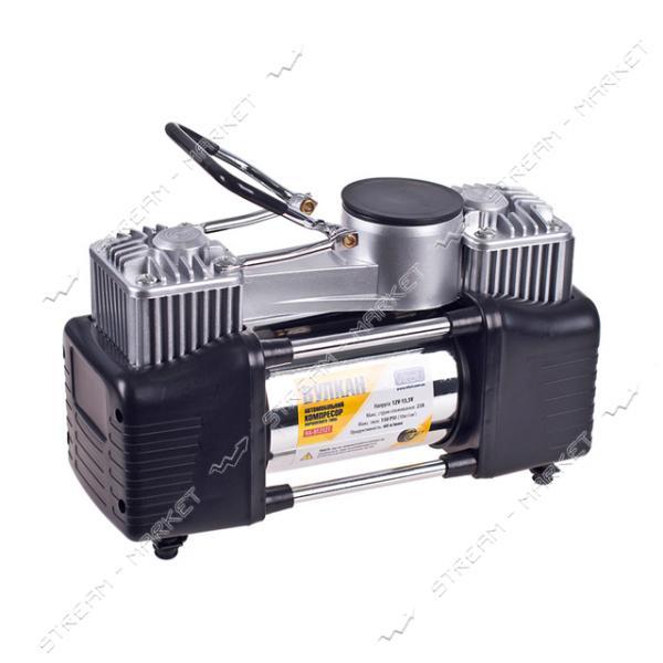 Компрессор VITOL КА-В12121 Вулкан 10атм, 18А, 60л/мин, клеммы, шланг 7, 5м с дефлятором, 2 цилин.
