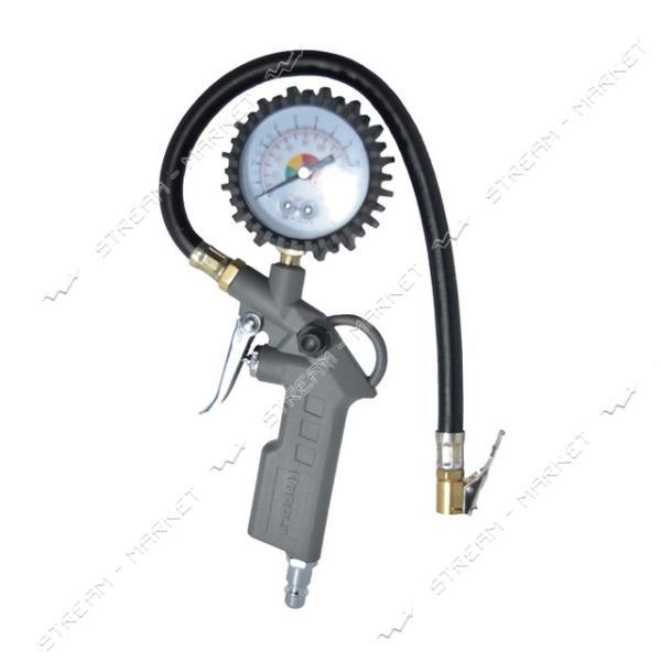 Пистолет для подкачки колес с манометром H-TOOLS 80K503 63 мм пневматический (блистер)
