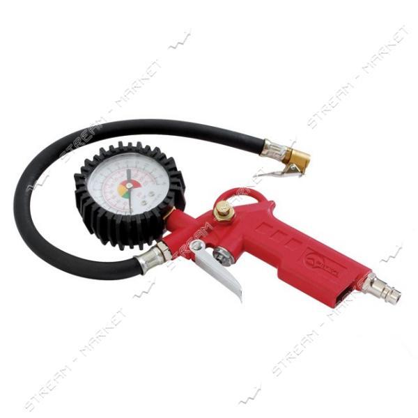 Пистолет для подкачки колес с манометром INTERTOOL PT-0504 63мм пневмо..(без маркеровки)