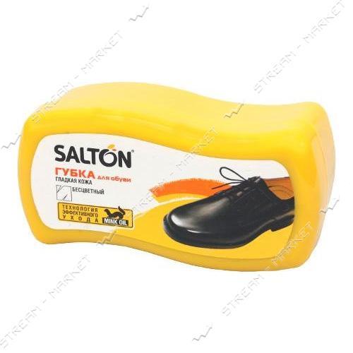 Губка обувная SALTON для гладкой кожи мини волна бесцветная