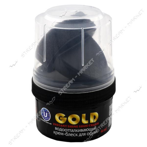 GOLD Крем - блеск для обуви в банке 60 мл Черный водоотталкивающий