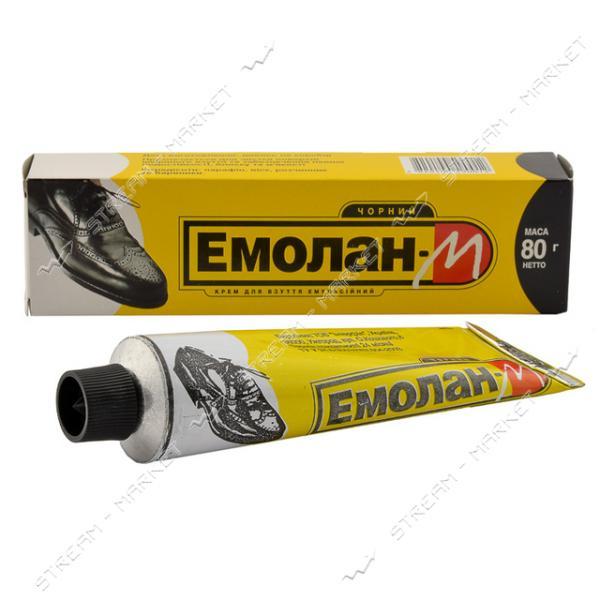 ЭМОЛАН Крем для обуви в тубе 80 мл (Чёрный)
