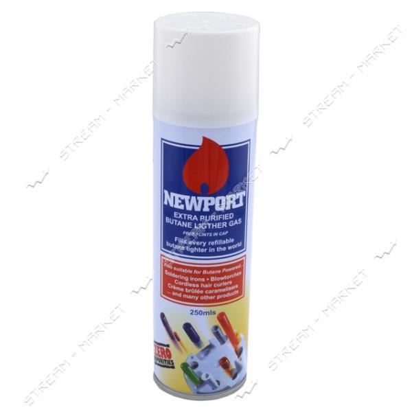 Балончик (газ) для заправки зажигалок 'Newport' 250мл, Англия