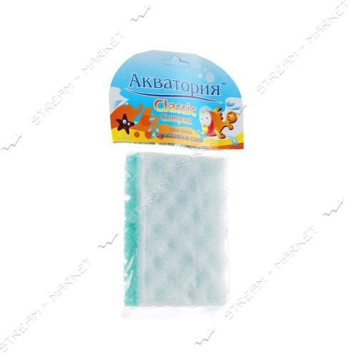 Губка банная Акватория Classic Compact с массажным слоем